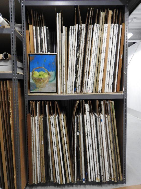 Fine Art Stored in Custom Racking in UOVO Private Room